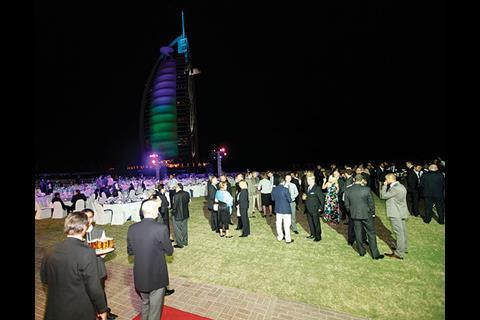 Delegates gather for the Gala Dinner at the conference in Dubai (2011).